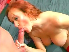 Big cock in ass of sexy redhead
