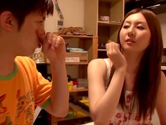 Sexy Japanese girl Yui Tatsumi is a great fuck buddy