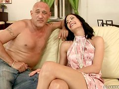Bruno trains Liz how to get fucked with huge dicks