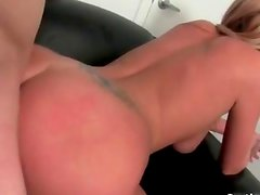 Hot blonde whore gets her pussy pounded