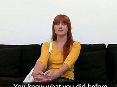 Redhead princess teasing on black bigbed