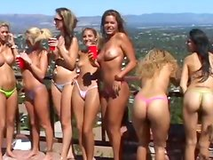 Bikini party girls want great sex