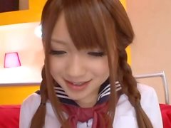 Sweet and Cute Japanese School Girl Riona Minami Fucked
