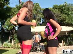 Two bisexual hunks are having fun with two lusty babes