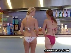 Hot teen girlfriends having some fun