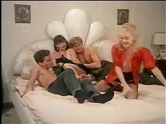 Enjoy group sex in a great retro movie