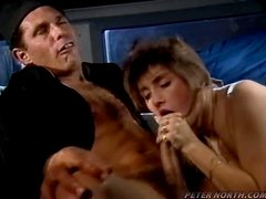 Cory Wolf blows a cock and gets her hairy pussy fucked deep