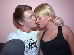 Sexy blonde Angelica is a cocsucking girlfriend!