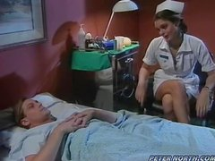 Raunchy Nurse Girl Humps Her Patient.