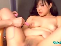 Asian Girl Fingered Stimulated With Vibrator Sucking Guy Cock Rubbing With Her Tits In The Hotel Roo