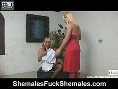 Walquiria and Thais transsexual and ladyboy vid
