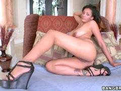 Busty Latin MILF takes big dick in her hot pussy