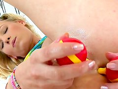 Gitta Blond enjoying herself and penetrating her nice pussy