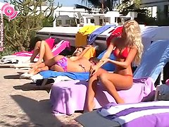 Poolside Masturbation With A Kinky Blonde Babe
