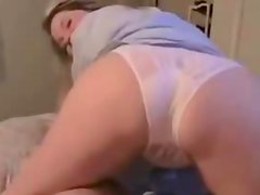 Hot housewife gives nice blowjob and assjob