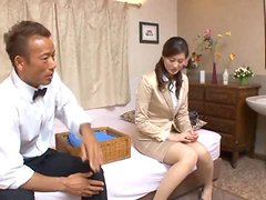 Hardcore video with sexy Japanese MILF and middle aged man