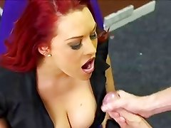 Busty ReadHead Beauty Facial (WHO IS THE RED HEAD???)