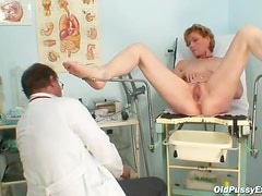 Enema for her mature pussy