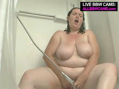 Bbw Sophie Takes A Shower.  So Much Plump