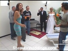 Andria playful transsexual bride