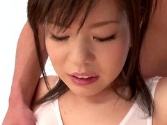 Oiled up Aika Suzuki gets fucked between her big tits