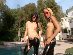 A Hardcore Threesome With Asian Babes Lena And Taj With A Black Cock