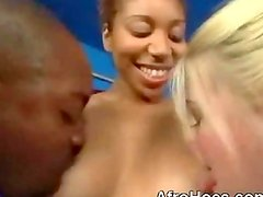 Ghetto Black Booty Slut Threesome