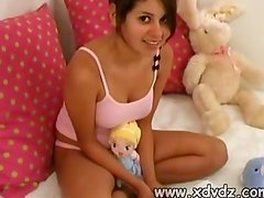 Cute Teen In Pink Lingerie Little Lexis Sucks On Her Brothers Best Friend Cock