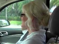 Milfhunter talks a hot blonde into