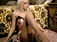 First-class blonde Jana Cova undressing hot
