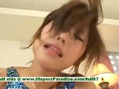 Arisu asian teen girl plays with her pussy with her new dildo