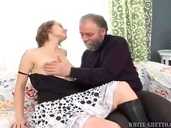 Aged dude makes Beauty Jill suck his cock