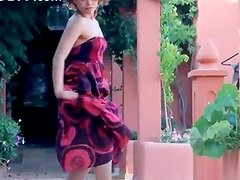 Exotic teenie undressing and dancing