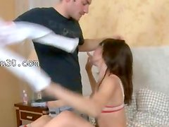 germanian girl cumshotted hard by friend
