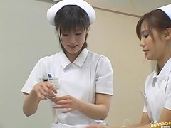 Sexy And Crazy Nurses Take Turns Riding On One Dick