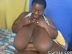 Ghetto Black BBW Afro Hoe Sucking BBC And Riding