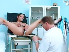 Perky tits teen girl and her doctor in exam