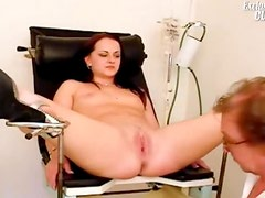 Teen throat and pussy exam is fun