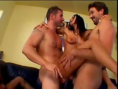 Pornstar Sandra Romain is gangbang slut