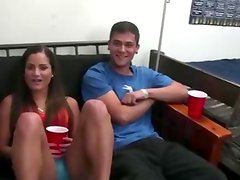 Hot college teens party