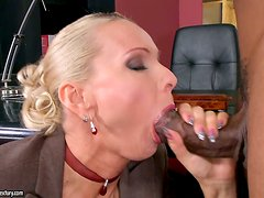 An Interracial Double Penetration Intra-Office Affair with Blonde Winnie