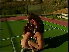 A Tennis Lesson Turns Into A hot Threesome