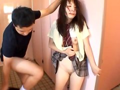 Japanese girl gets unforgettably fucked in the toilet