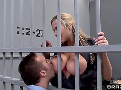 Arousing experienced cock hungry blonde prison