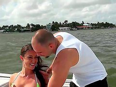 Jmac finnaly manages to get hottie Victoria Love on his boat for some hardcore fun together
