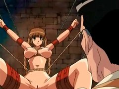 Rough sex and hentai play in the dungeon