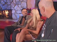 Blonde Swinger Wife is So Fine!