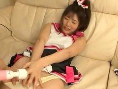 Hot cheerleader Tsubomi gets unforgettably fucked in the living room