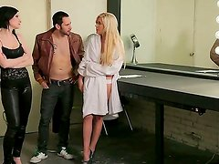 Hardcore threesome action with James Deen, Kelly Surfer and Veruca James who are crazy lesbians