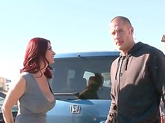 Danny Mountain enjoys the way Tiffany Mynx makes him a hot blowjob